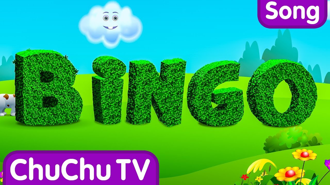 BINGO Dog Song – Nursery Rhyme With Lyrics – Cartoon Animation Rhymes & Songs for Children