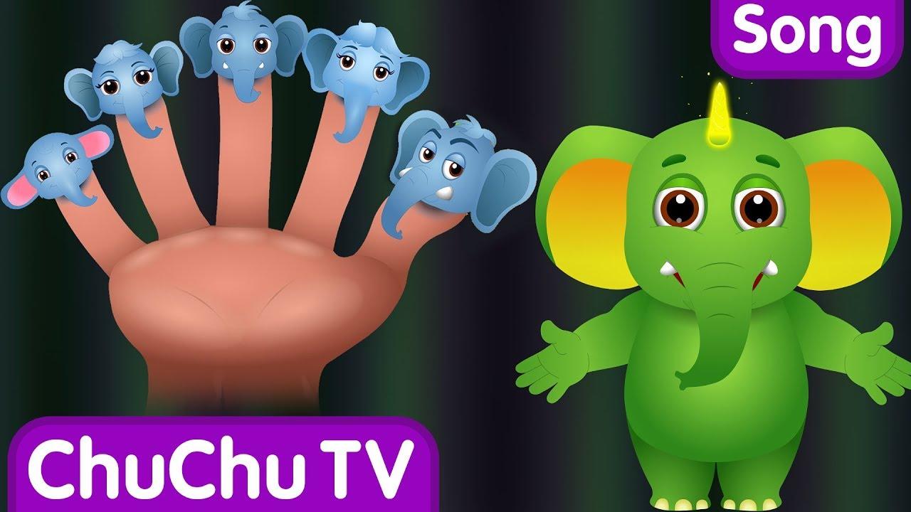 Finger Family Elephant | ChuChu TV Animal Finger Family Songs & Nursery Rhymes For Children
