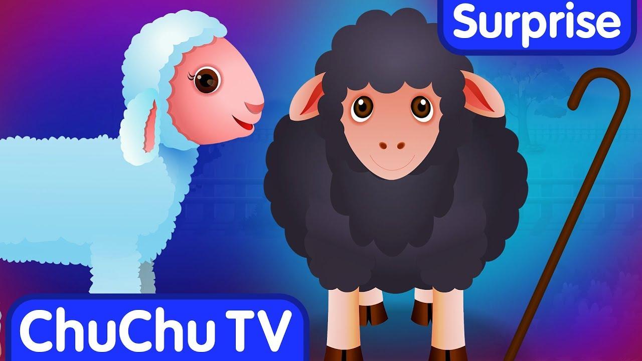 Surprise Eggs Nursery Rhymes Toys   Baa Baa Black Sheep   Learn Colours & Farm Animals   ChuChu TV