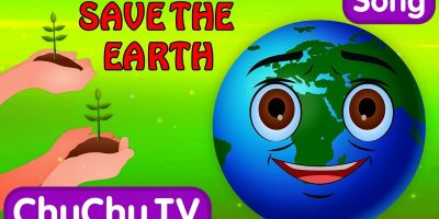 Here We Go Round the Mulberry Bush | Save the Earth from Global Warming | ChuChu TV