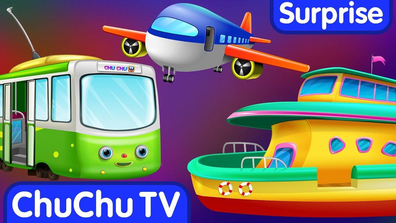 Surprise Eggs Toys – Public Transport Vehicles for Kids | Aeroplane & more | ChuChuTV Egg Surprise
