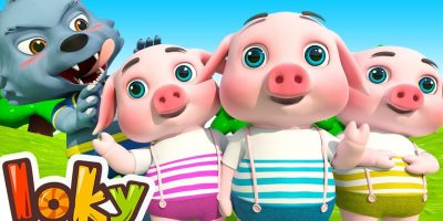 Three Little Pigs – Halloween Songs For Kids | Loky (Cocomelon ) Nursery Rhymes
