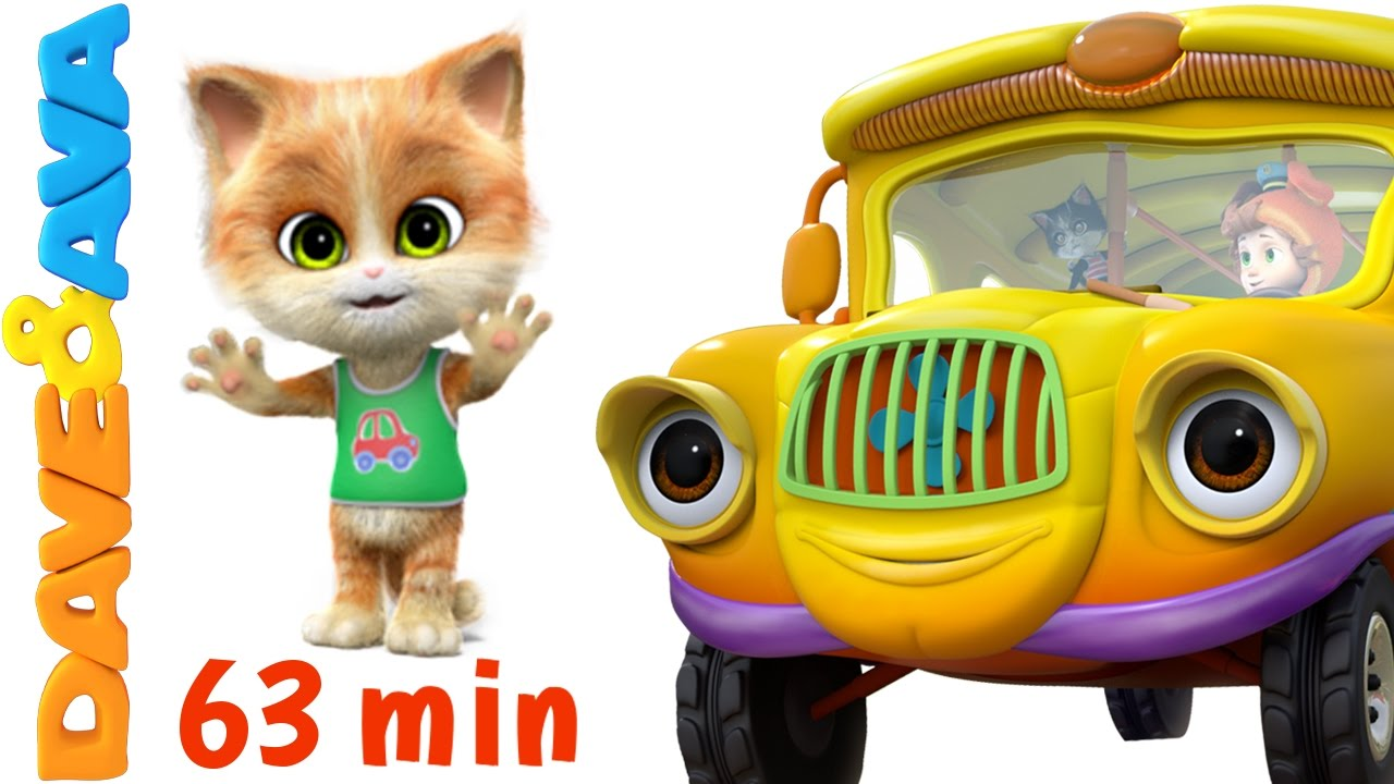 ? Wheels on the Bus Go Round and Round | Nursery Rhymes Collection from Dave and Ava ?