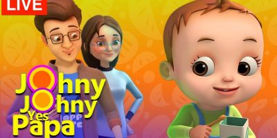 Johny Johny Yes Papa Songs – 3D Nursery Rhymes & Kids Songs – Songs For Babies – Live Stream