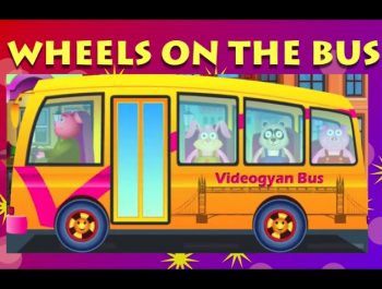 Wheels On The Bus Go Round And Round – Popular Nursery Rhymes For Children