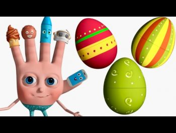 VeeJee Surprise Eggs Finger Family Videos | 3D Surprise Eggs Nursery Rhymes