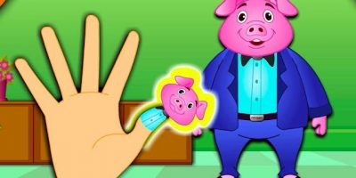 The Finger Family Pig Family Nursery Rhyme | Kids Animation Rhymes Songs