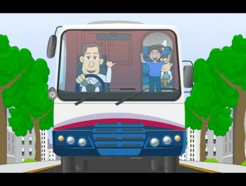 The Wheels on the Bus Go Round and Round Rhyme – Animation Songs for Children
