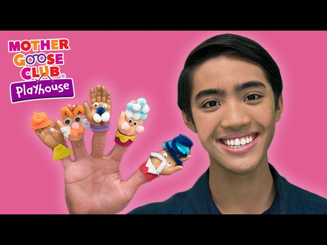 DIY Baby Hand Puppets Craft | Surprise Egg Finger Family | Mother Goose Club Playhouse Kids Video