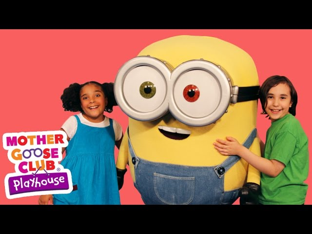 The Wheels on the Bus Featuring Minions! | Mother Goose Club Playhouse Kids Video
