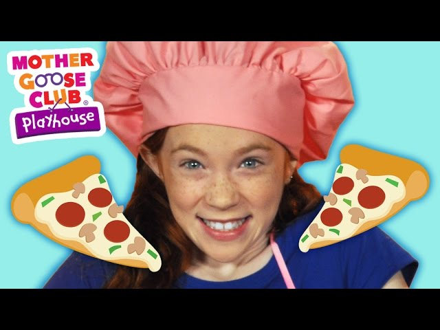 DIY Pizza Craft | Let's Make a Pizza | Mother Goose Club Playhouse Kids Video