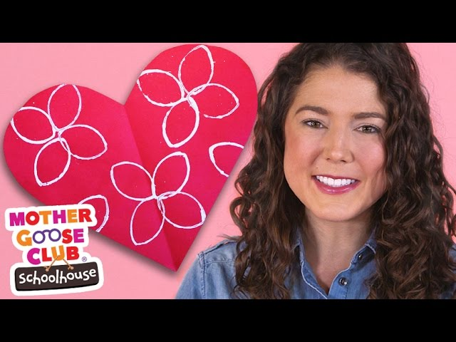 Kids Craft Heart Preschool Shapes Activity | Show Me How by Mother Goose Club Schoolhouse