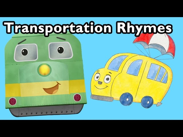 Freight Train and More Transportation Rhymes | Nursery Rhymes from Mother Goose Club!