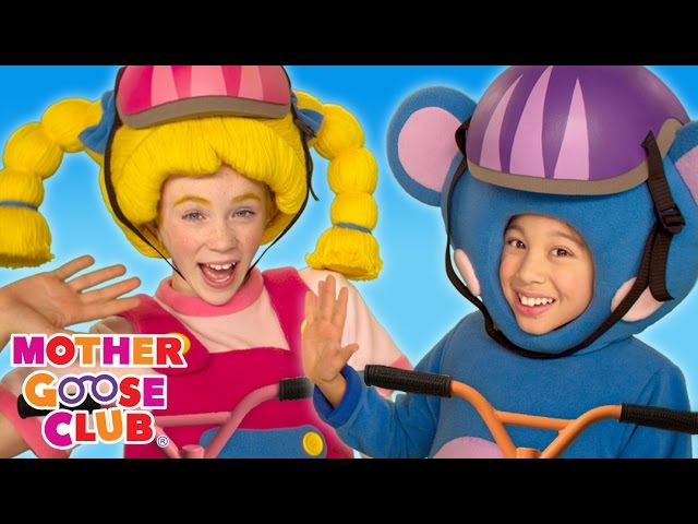 Scooting Around | Scooter Tricks | Mother Goose Club Songs for Children