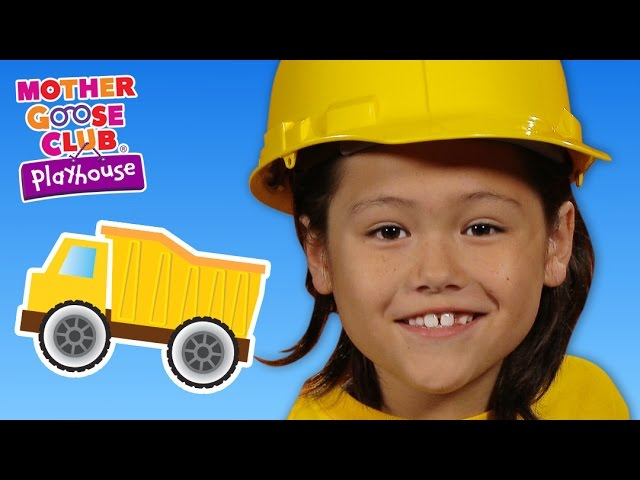 Building With Toys   Construction Trucks   Mother Goose Club Playhouse Kids Video