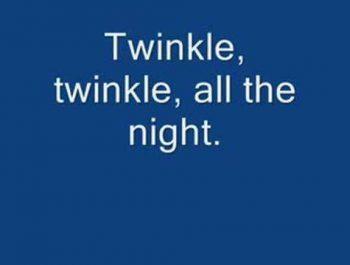 Twinkle Twinkle Little Star (with lyrics)