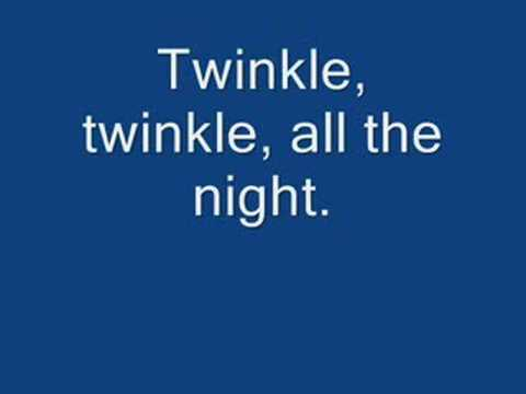 Twinkle Twinkle Little Star (with lyrics)