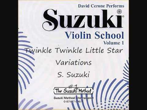 Twinkle Twinkle Little Star Variations S. Suzuki – Suzuki Violin School Volume 1 #1