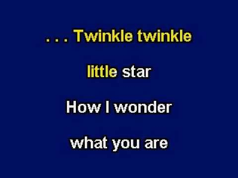 Twinkle Twinkle Little Star, Karaoke video with lyrics, Instrumental Version