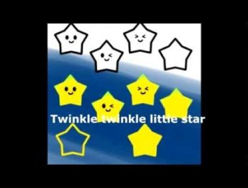 Twinkle twinkle little star(きらきら星) 歌詞つき・カラオケつき