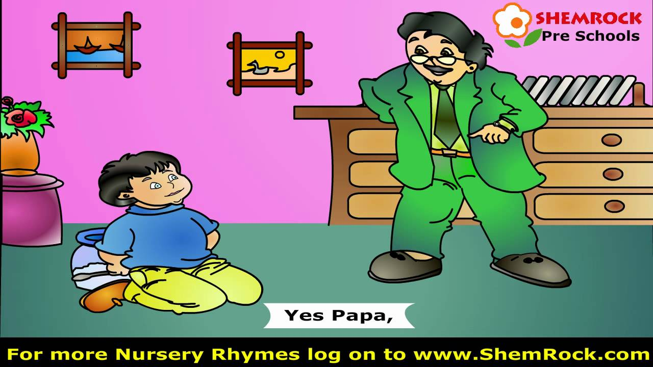 Nursery Rhymes Johnny Johnny Yes Papa Songs with lyrics for PreSchool Kids