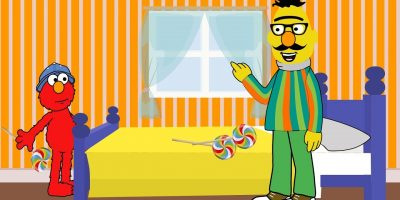 Johny Johny Yes Papa with Sesame Street Bert Elmo Kids Rhymes