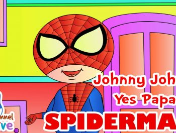 SPIDERMAN Johnny Johnny Yes Papa Nursery Rhyme for Children