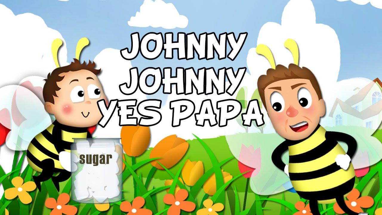 Johny Johny Yes Papa lyrics song with lead Vocal | Nursery Rhymes | Ultra HD 4K Music Video Full