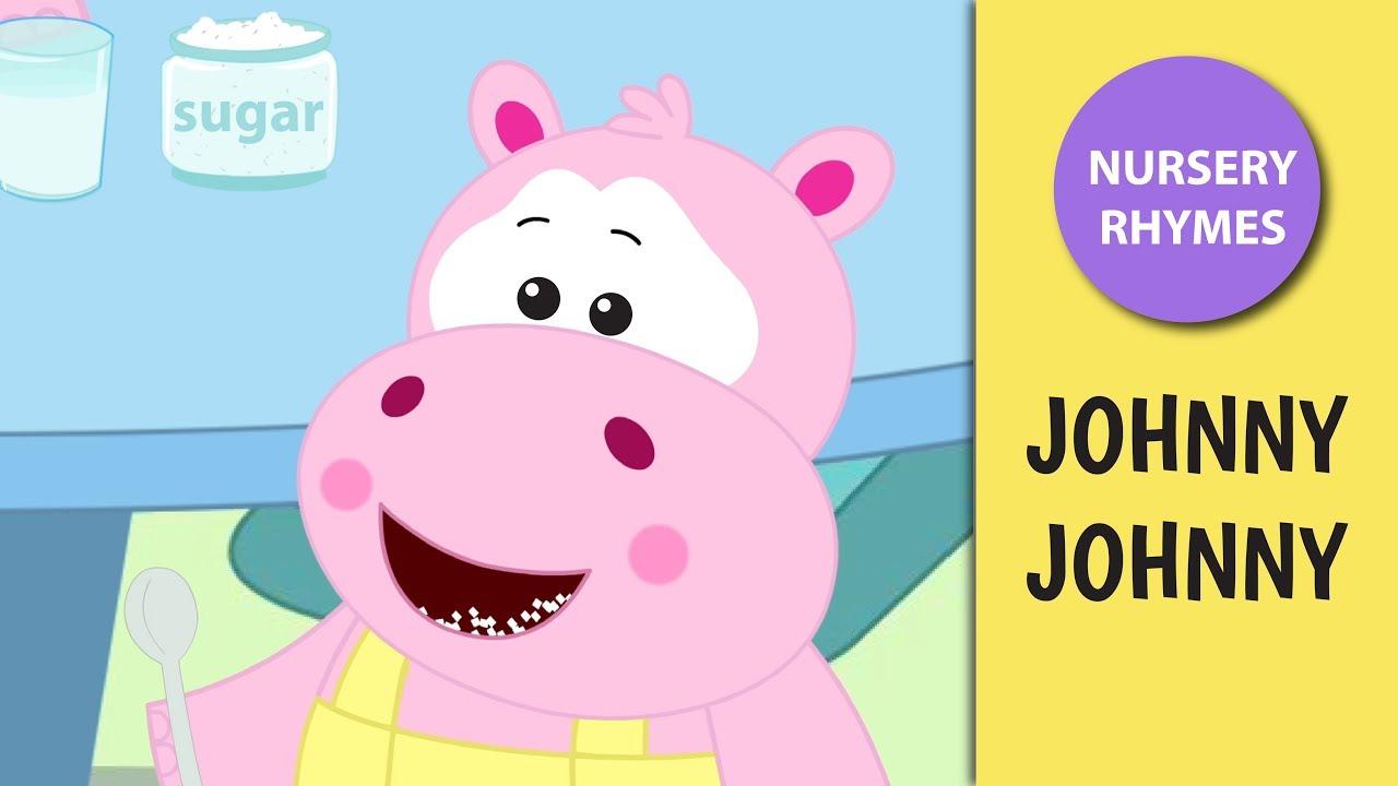 Johnny Johnny Yes Papa with Lyrics     Nursery Rhymes for Kids      Ultra HD 4K Video     HOORAY TV