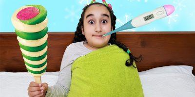 Gamze and Ice cream, Johny Johny Yes Papa Nursery Rhymes Song, for kids