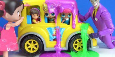 Niloya Öğretmen Johny Johny Yes Papa Joker LOL Bebek Okul Otobüsünü Slime tuzağına sen mi batırdın?