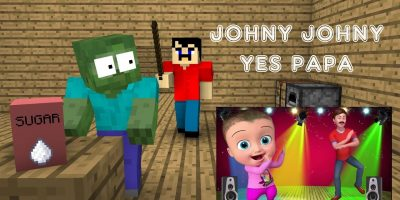 Monster School : Johny Johny Yes Papa – Minecraft Animation