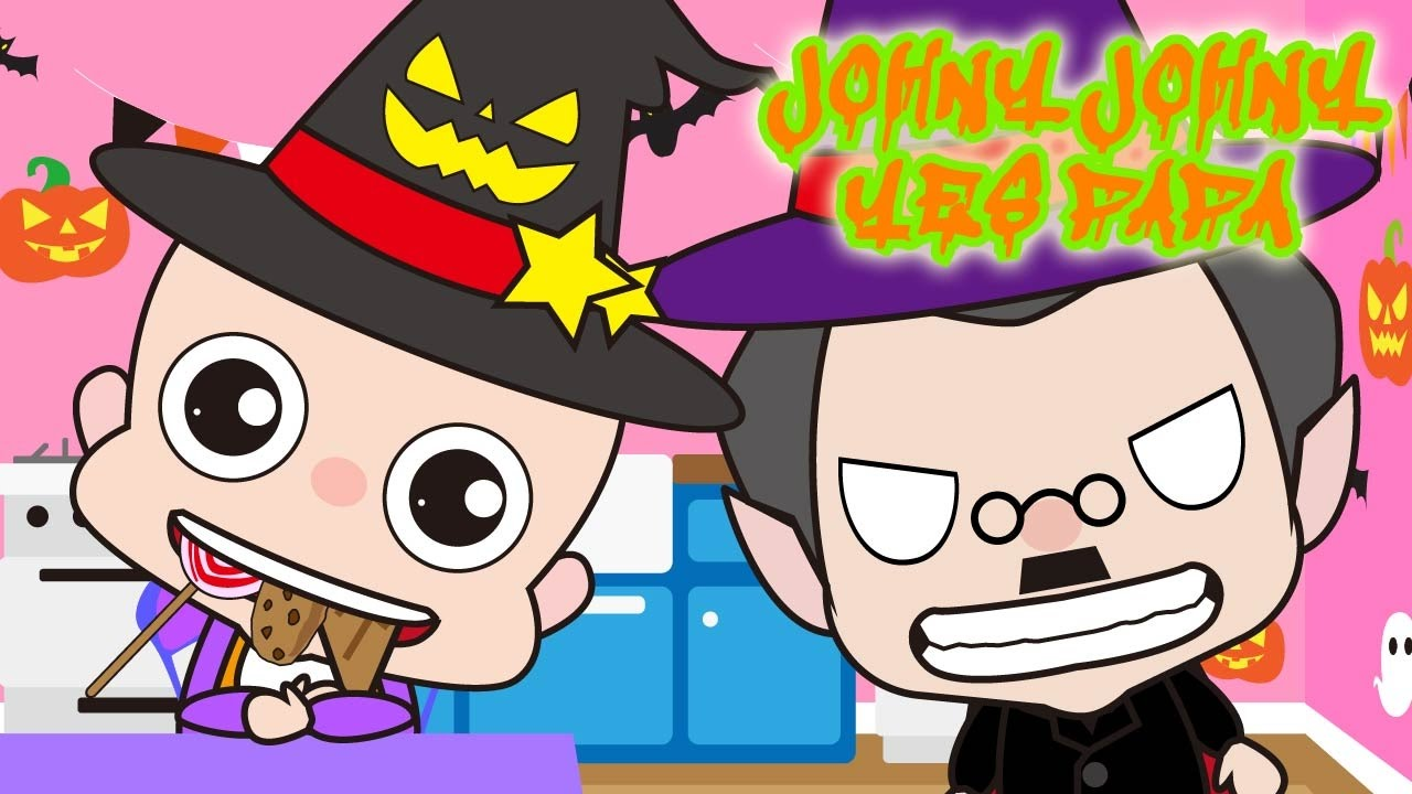 Johny Johny Yes PaPa Little Babies Halloween | Children Nursery Rhyme | Kids Songs | Baby Puff Puff