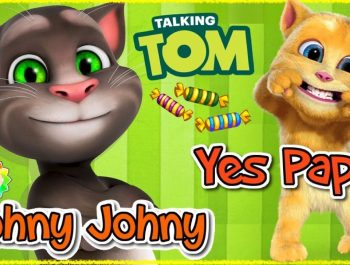 Johnny Johnny Yes Papa Baby Talking Tom and Ginger Baby Version | Rainbow Babytv Cartoon Educational