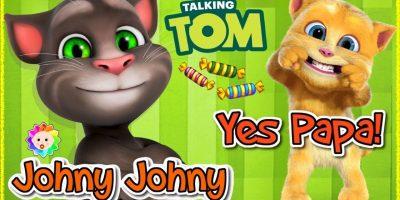 Johnny Johnny Yes Papa Baby Talking Tom and Ginger Baby Version | Rainbow Babytv Cartoon Educational
