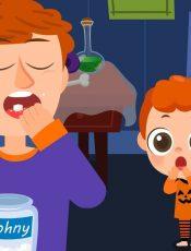 Daddy Daddy Yes Johny (Johny Johny Yes Papa)  | Halloween Song | JellyPop Kids Songs
