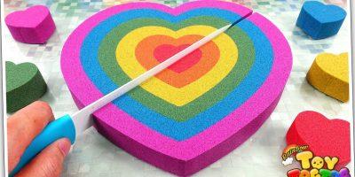Twinkle Twinkle Little Star | Learn Color Rainbow Kinetic Sand Heart Cake Nursery Rhymes for Kid