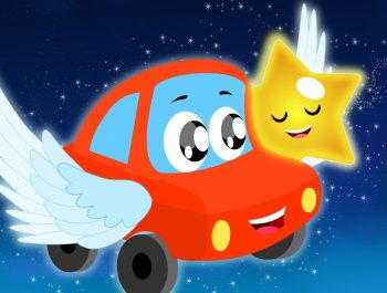 Little Red Car Rhymes – Twinkle Twinkle Little Star | Car Songs | Nursery Rhymes
