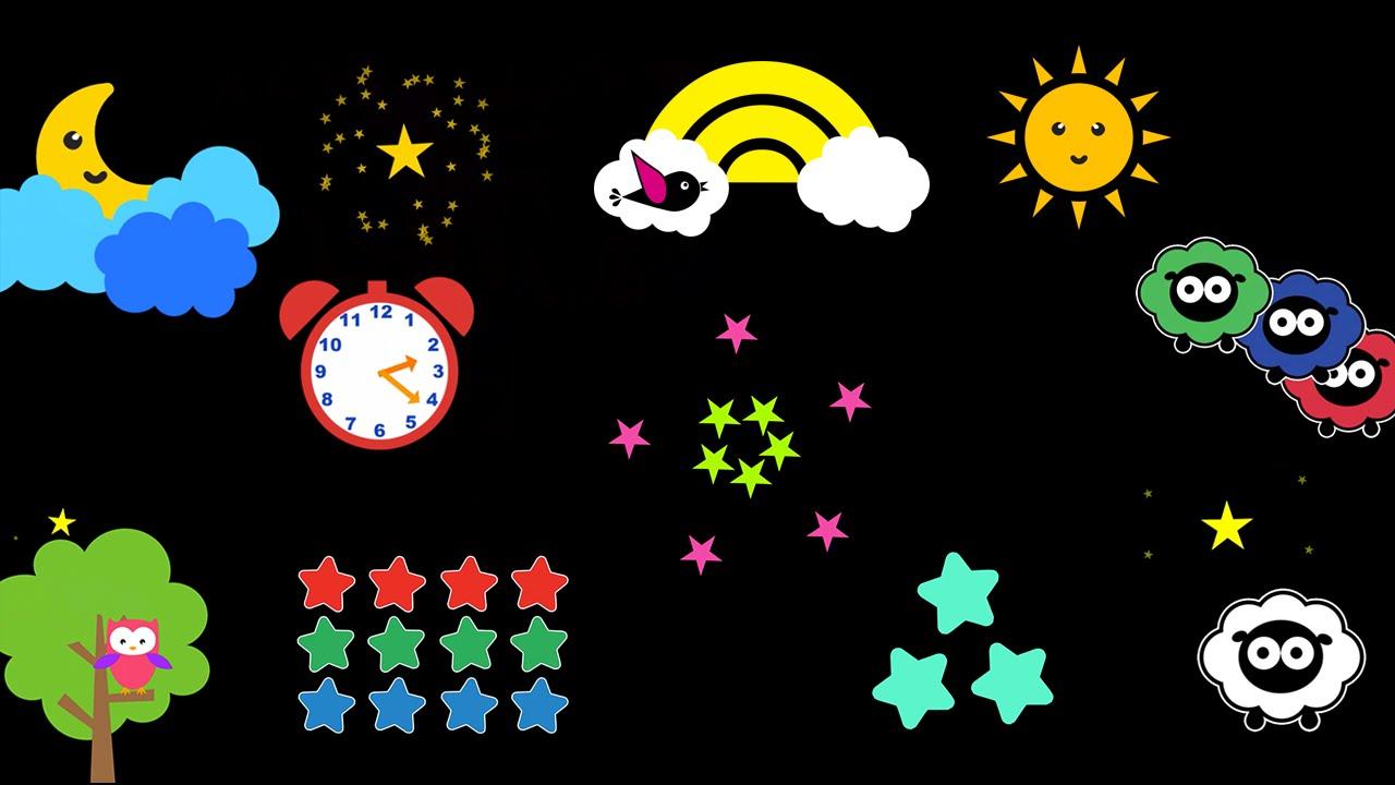 Baby Sensory – Sleepy Time – Twinkle Twinkle Little Star (Visual Stimulation) Put baby to sleep