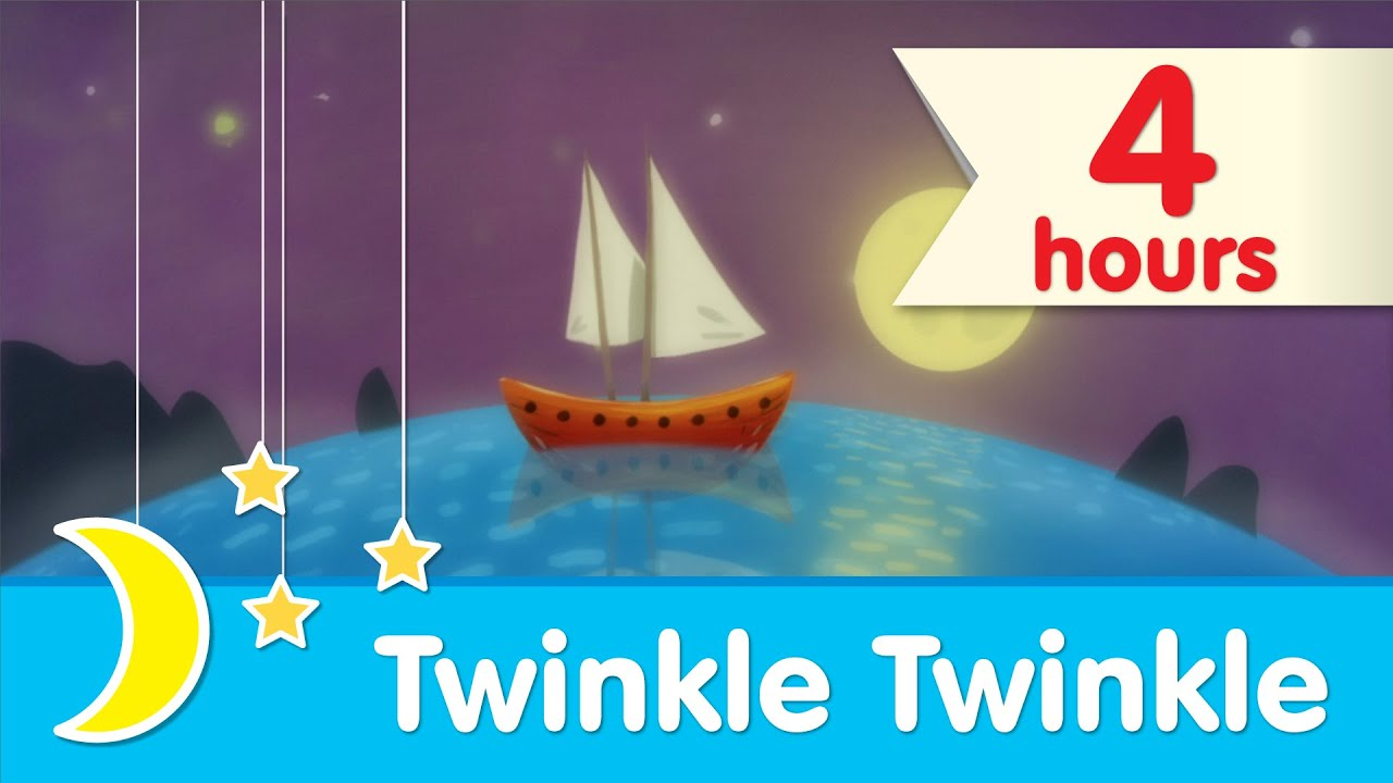 ? 4 HOURS ?    Twinkle Twinkle Little Star Piano Lullaby to Help Babies Sleep   Super Simple Songs
