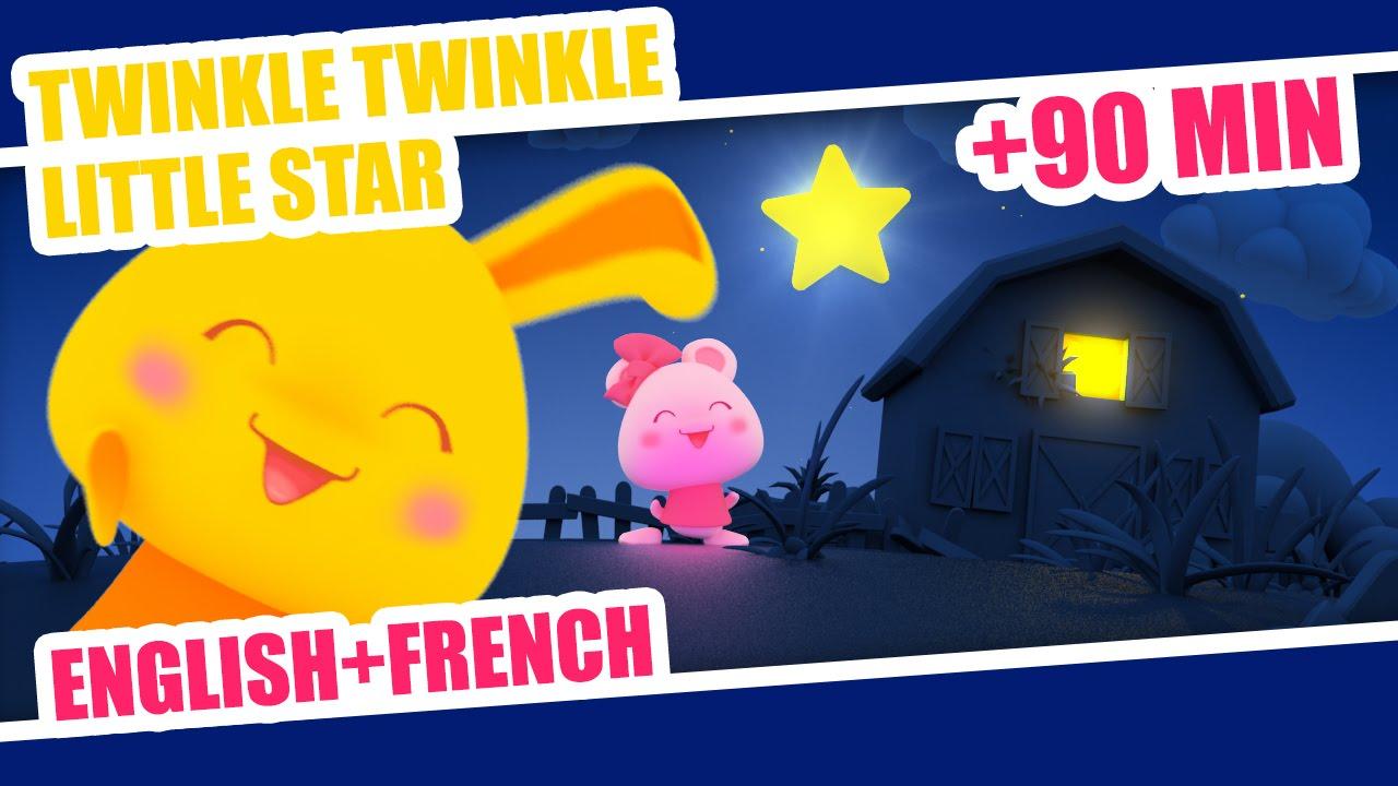 Twinkle Twinkle Little Star   French Nursery Rhyme + 80min of kids songs