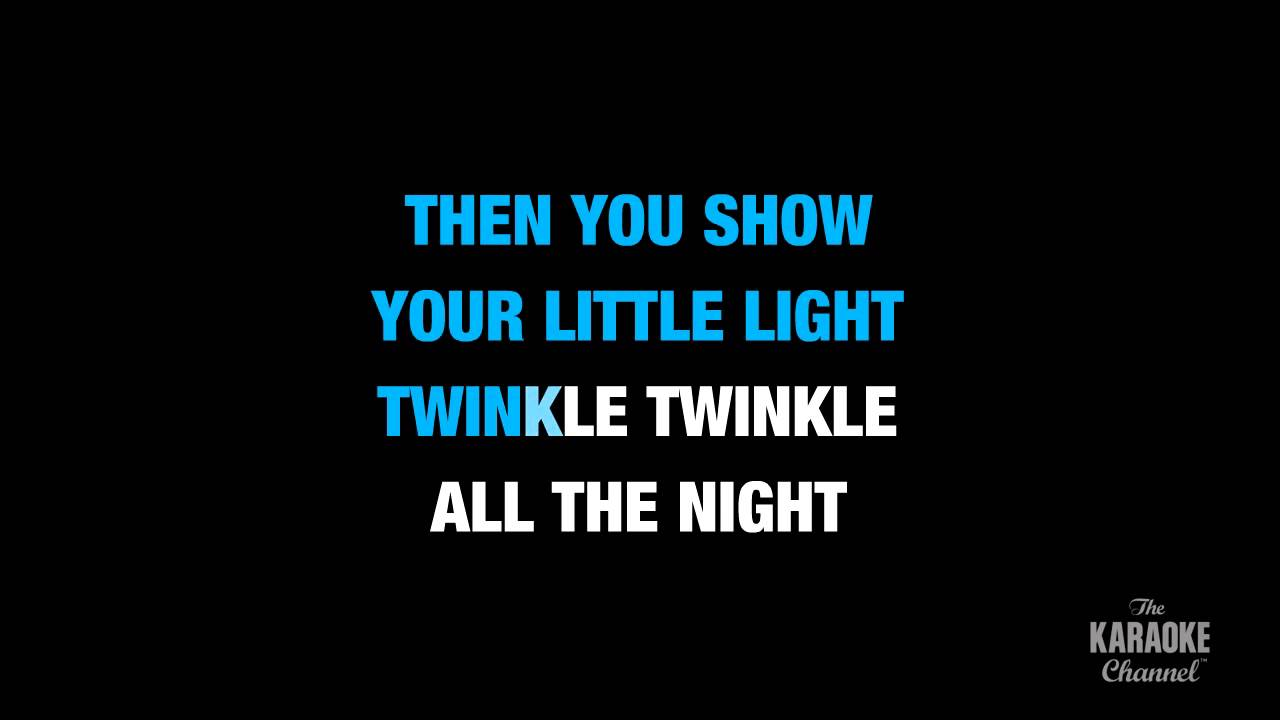 """Twinkle, Twinkle Little Star in the Style of """"Traditional"""" karaoke video with lyrics (no lead vocal)"""