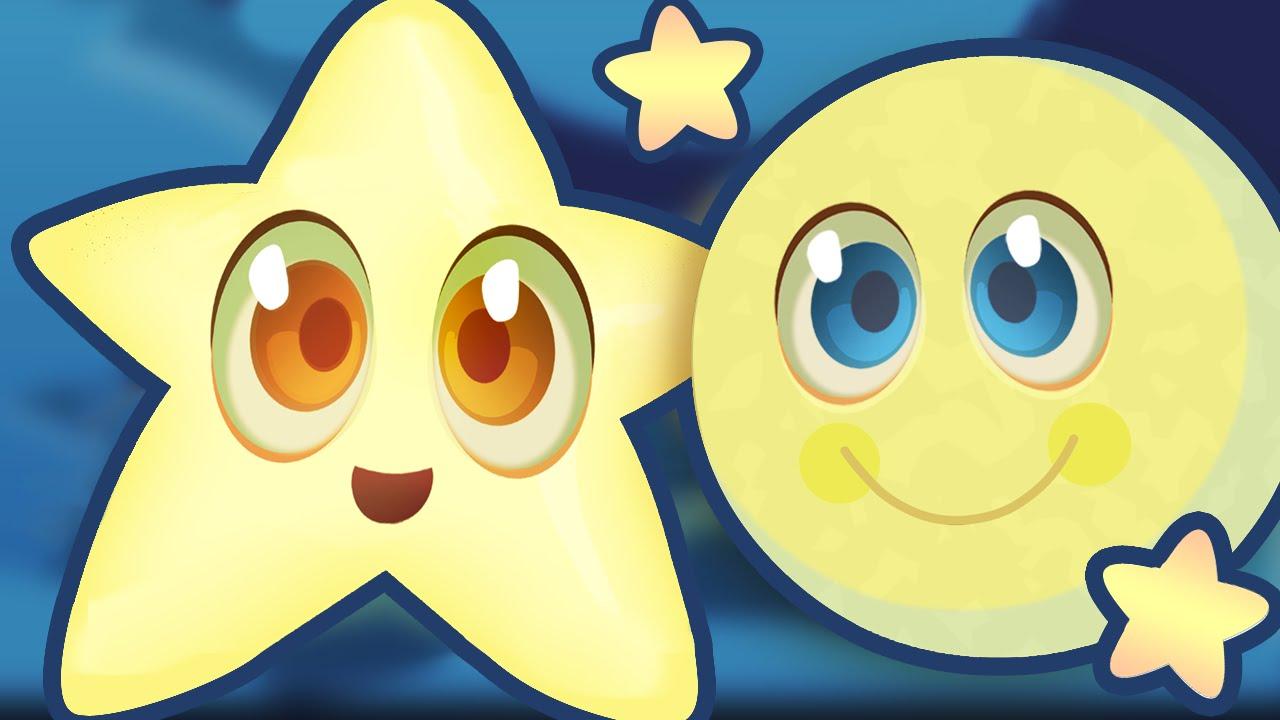TWINKLE TWINKLE LITTLE STAR  Nursery Rhyme Video with Lyrics – Simple But Super Cute Song!
