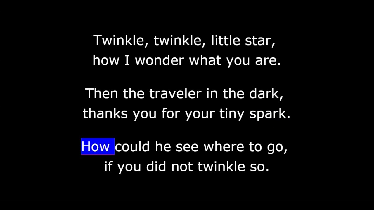 Children's Song – Twinkle Twinkle Little Star
