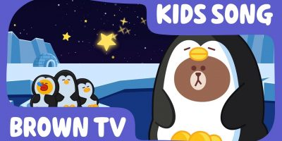 [Brown TV] Twinkle twinkle little star | Nursery Rhymes | Line Friends Kids Song | 一閃一閃亮晶晶