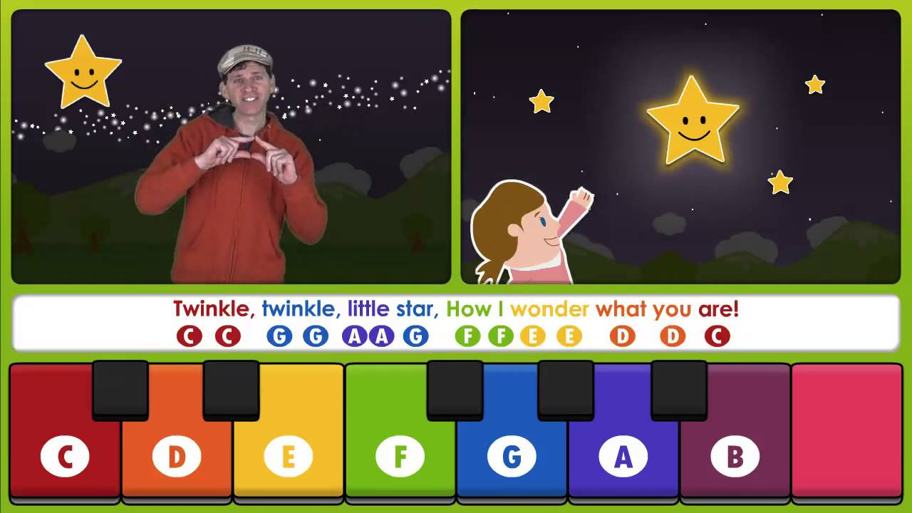 Twinkle Twinkle Little Star -Learn to Play on a Keyboard