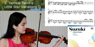 1 Twinkle, Twinkle, Little Star Variations / Suzuki Violin Libro 1