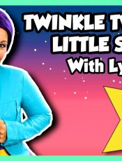Twinkle Twinkle Little Star | Nursery Rhyme Kids Songs Lyrics on Tea Time with Tayla