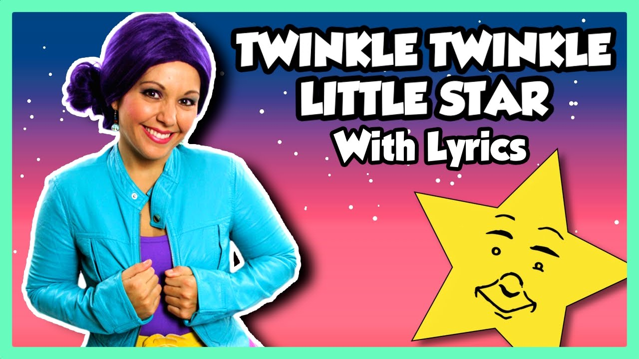 Twinkle Twinkle Little Star | Nursery Rhyme Kids Songs Lyrics on Tea Time with Tayla