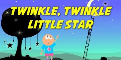 Twinkle Twinkle Little Star (instrumental – lyrics video for karaoke)
